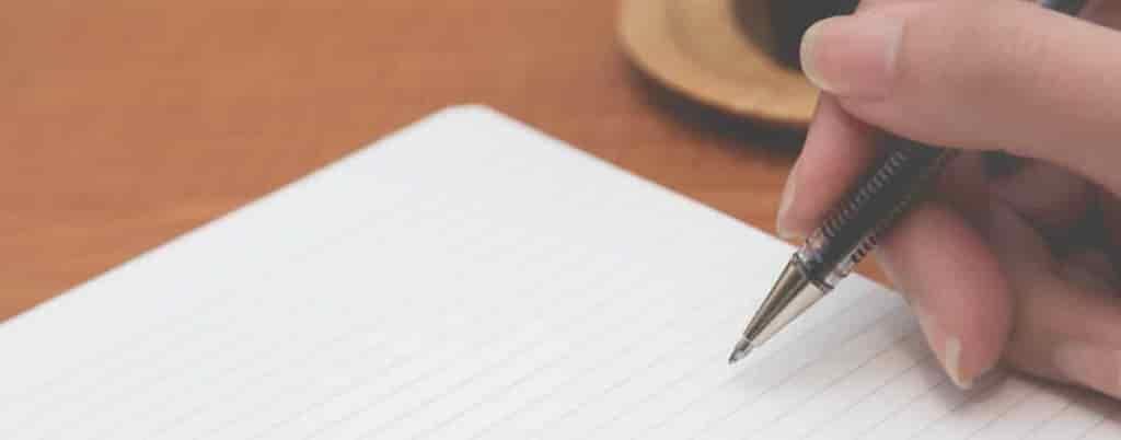 キャリアパスをノートに書く