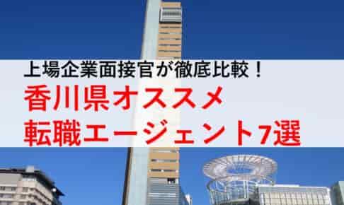 香川県オススメ転職エージェント7選!2019年正社員求人数比較 マイナビはどう?