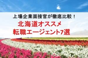 北海道のオススメ転職エージェント&2019年正社員求人数を徹底比較!