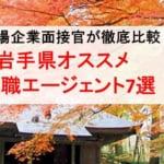 岩手県のオススメ転職エージェント&2019年正社員求人数を徹底比較!
