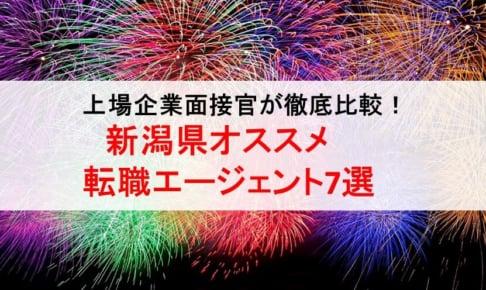 新潟県のオススメ転職エージェント&2019年正社員求人数を徹底比較!