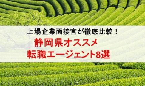 静岡県のオススメ転職エージェント&2019年正社員求人数を徹底比較!