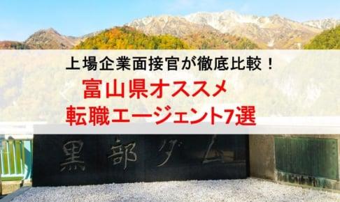 富山県のオススメ転職エージェント&2019年正社員求人数を徹底比較!
